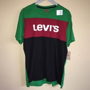 Levi's Colorblock Supersoft T-shirt XL Green SS